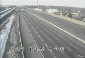 Empty highway in Toronto during gold medal game.